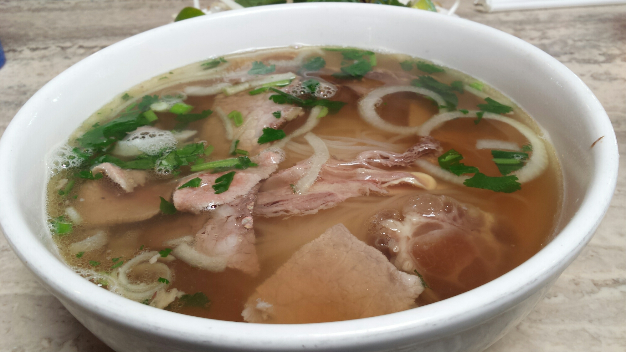 Pho Soup - Eye Round Steak, Well Done Brisket, Flank, Soft Tendon & Tripe