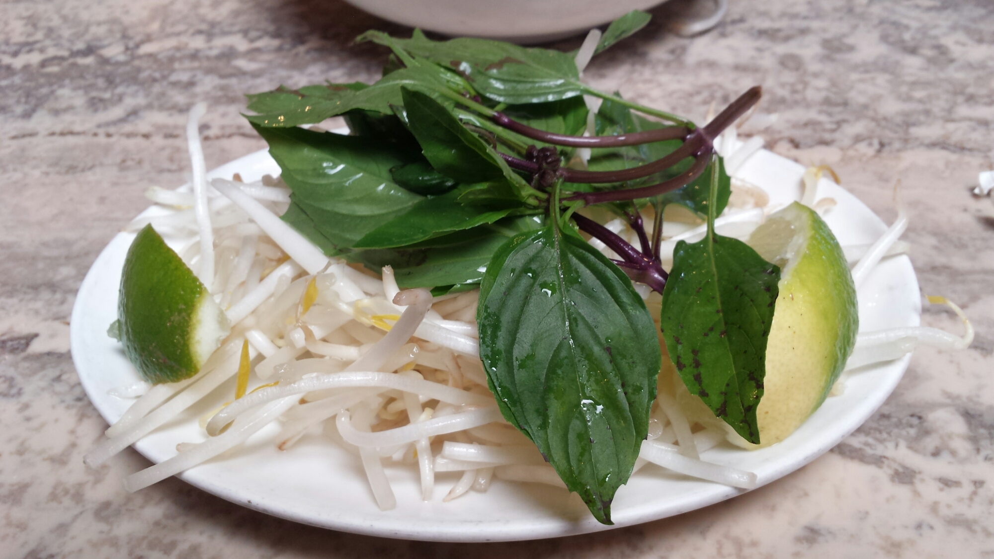 Accessories - Lime, Basil Leaves, Bean Sprouts