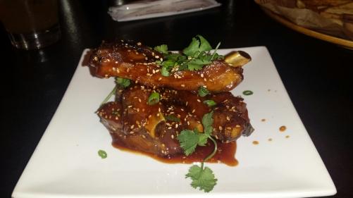 Korean Sticky Ribs with sesame & cilantro