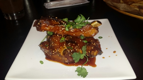 Korean Sticky Ribs with sesame & cilantro