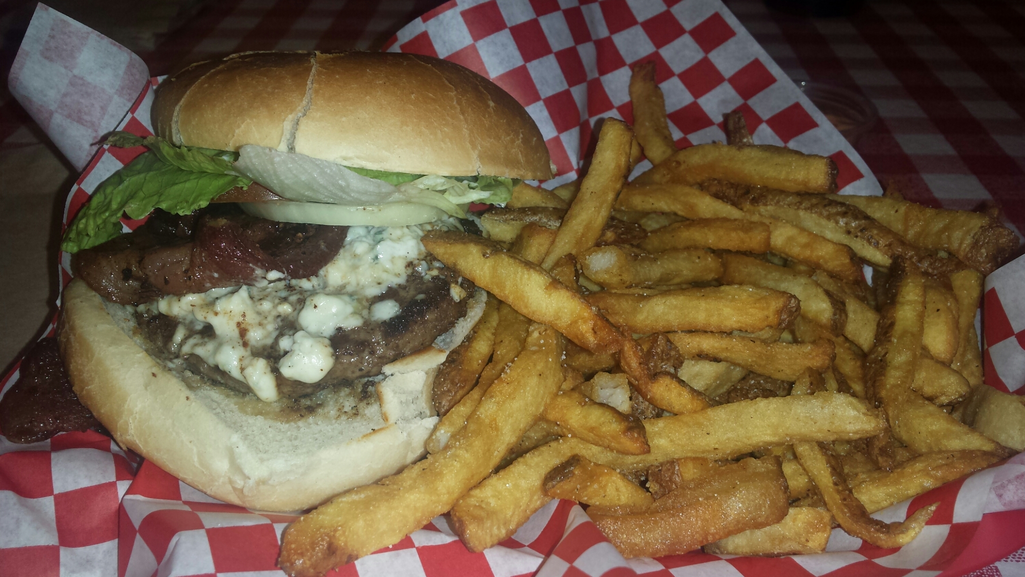 Bleu Cheese Bacon Hamburger