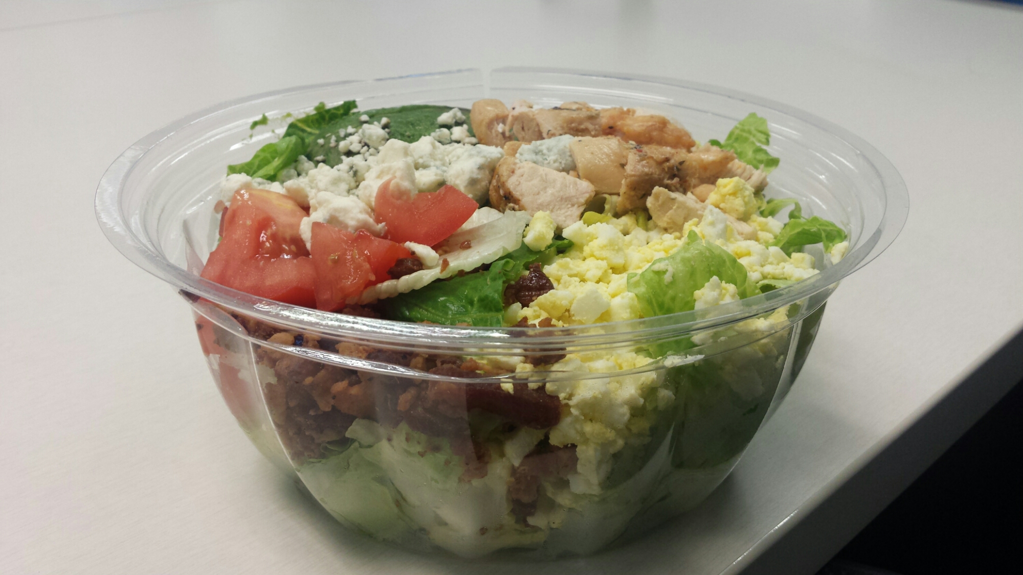 Cobb Salad - bacon, avocado, boiled eggs,blue cheese, tomatoes