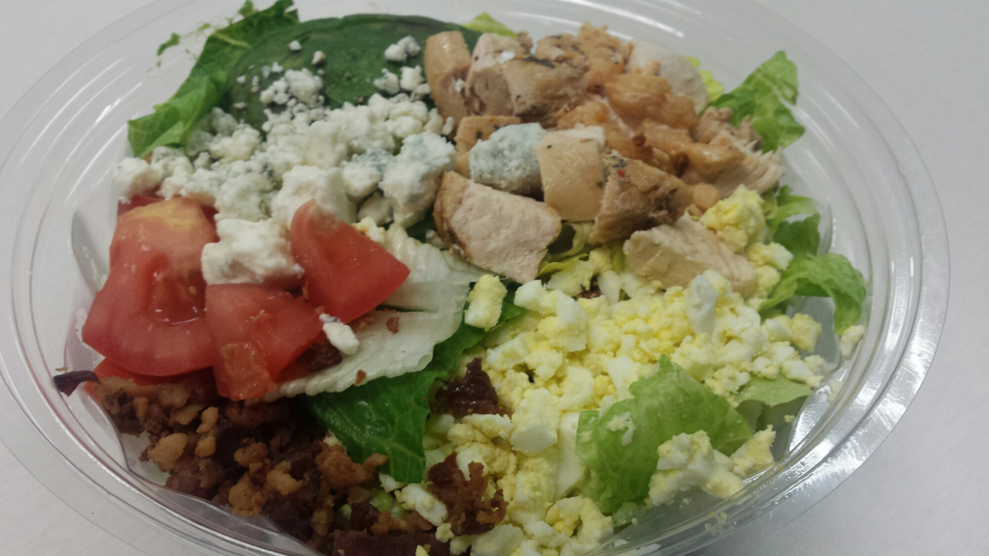 Cobb Salad - bacon, avocado, boiled eggs,blue cheese, tomatoes