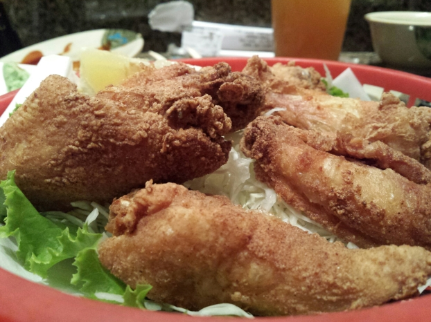 Japanese style fried chicken wings