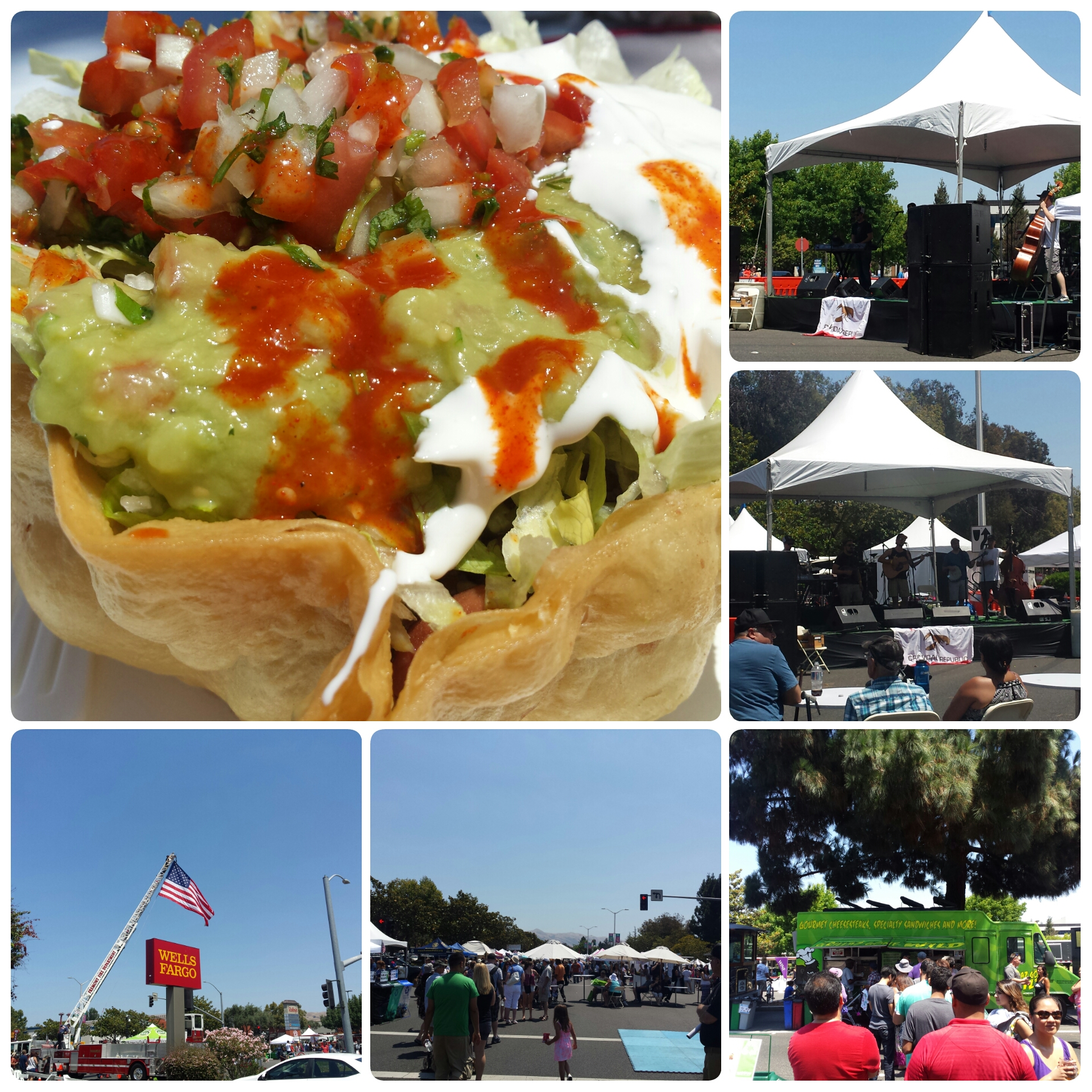Carne Asada Tostada - Fremont Festival of the Arts
